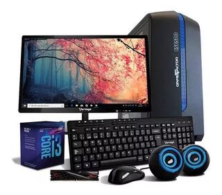 Computadora Pc Cpu Core I3 1tb 8gb Monitor Kit Bocinas 80+