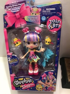 Shopkins Shoppies Party Dolls - Rainbow Kate (fancy Dress P