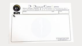 Recetario Médico 1000 ½ Carta A Color En Papel Opalina 120gr