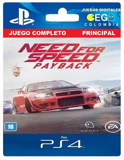 Juego Digital Need For Speed Payback Ps4 Primario Oferta