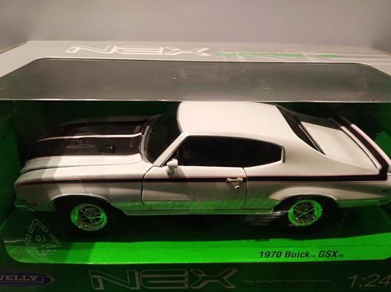 Buick Gsx 1970 Blanco 1:24 Welly Milouhobbies A2494