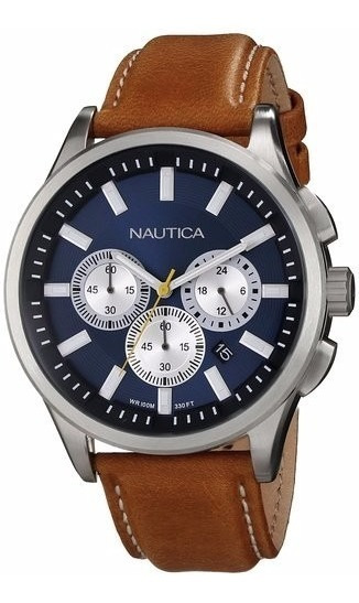 Relógio Nautica N16695g Clássico Masculino Frete Grátis