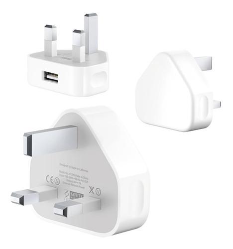 Apple Cargador 5w Original 100% + Adaptador Chileno