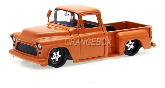 Chevy Stepside 1955 Just Trucks Jada Toys 1:24 Laranja