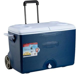 Hielera 60qt Azul Con Ruedas Rubbermaid R-h60a