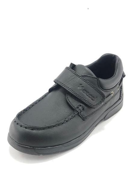 Zapato Colegial Escolar Náutico Con Abrojo - Marcel