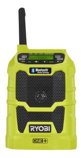 Radio Inalambrica Para Obra Ryobi One P742 Con Bluetooth