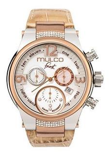 Mulco Frost Mw5 2601 113 Beige Piel Banda Mujer Reloj Con
