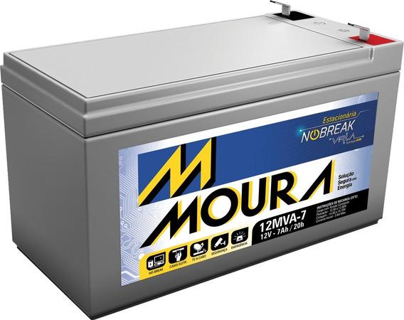 Bateria Moura Vrla Selada 12v 7ah Alarme Nobreak.