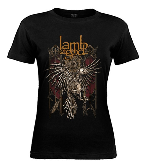 Remera De Mujer Lamb Of God - Corpse Bird