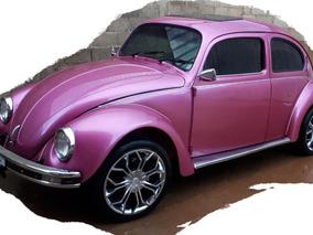 Volkswagen Fusca Rosa Impecável Motor 1500, 7900km