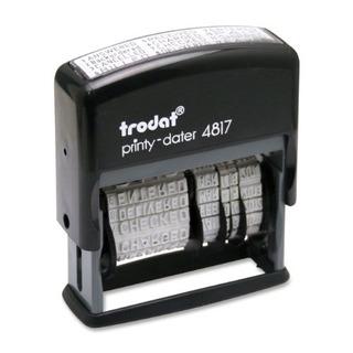 Trodat Economy 12message Stamp Dater Selfinking 38 X 2 Pulga