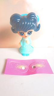 Figura De Huevo Kinder De Munequita Vestido Azul