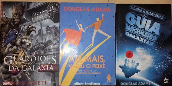 Combo 239 - 3 Livros Douglas Adams E Dan Abnett