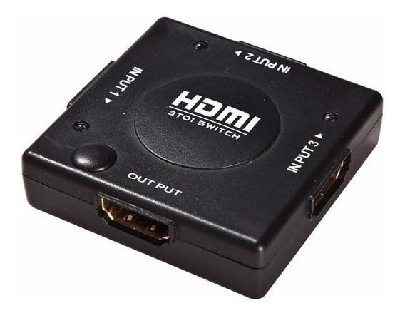 Selectora Switcher Hdmi 3x1 1080p. Todovision
