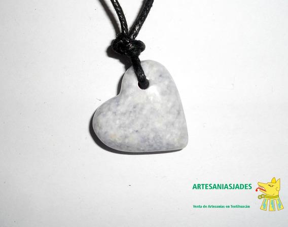 Corazón Piedra Jade Lavanda, Colgante De Jade Jadeíta