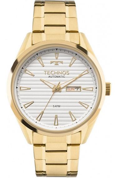Kit Relógio Automático Masculino Technos+pulseira Aço Convex