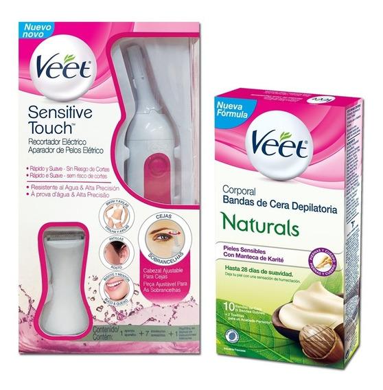 Veet Sensitive Touch + Bandas Corporales Naturals Piel Sens