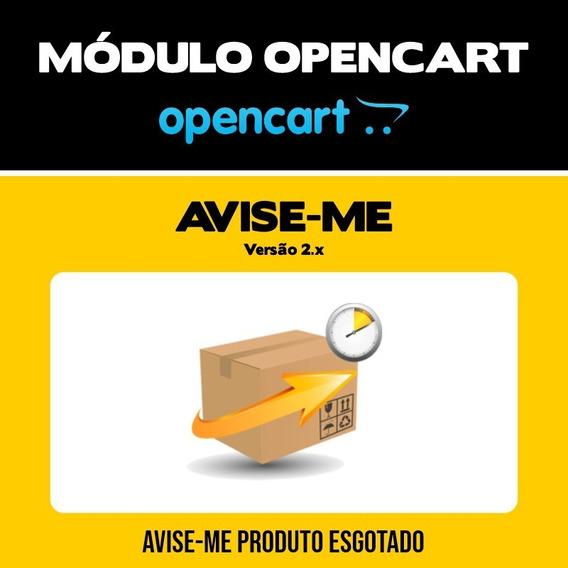 Módulo Avise-me Produto Esgotado Lojas Opencart