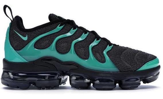 Tenis Nike Air Vapormax Plus Negro/esmeralda #27 Mx Original