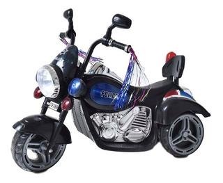 Moto Police Eléctrica Para Niños