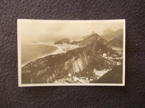 2194-postal Antigua Vista Aerea Brasil Praia Copacabana