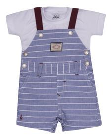 0c49076e8c78d9 Jardineira Macacao Infantil Tecido - Calçados, Roupas e Bolsas com o ...