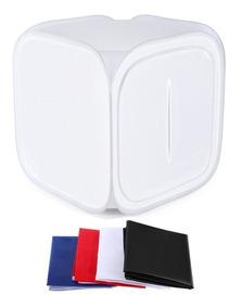 Mini Estúdio Fotográfico Tenda Difusora 80x80 Com Bolsa
