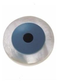 Olho Grego Pedra Natural Madrepérola/turquesa Jr Joalheiro.