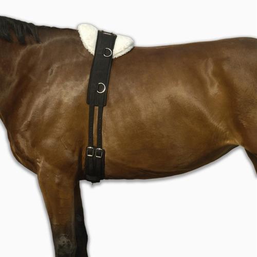 Sobrecincha De Trabajo Equitación  Caballo Negro Ajusta