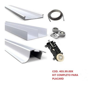 Kit Para Placard Hafele 403.99.00x, 2 Mts. Para 2 Hojas.