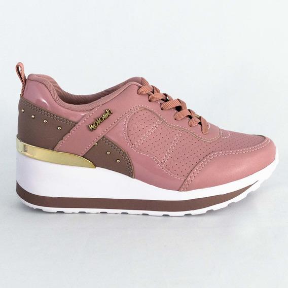Tênis Kolosh C1405 Sedah Sneaker Verniz Rose