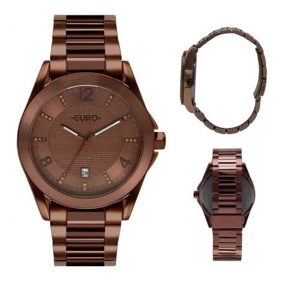 Relógio Euro Chocolate Feminino Fashion Eu2315hp/4m