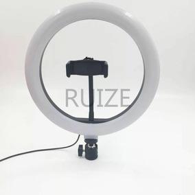 Iluminador De Led C/1.2m Tripe Ringlight Usb 26cm 3500k6000k
