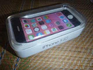 Caja De iPhone 5c Pink/rosa 32gb Con Stickers Y Sacachip