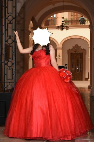 Vestido De Quinceañera Color Rojo