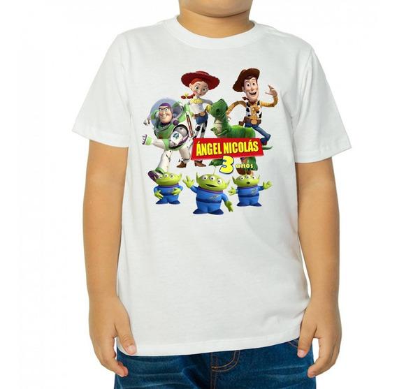 Toy Story - 10 Playeras Personalizadas Para Fiestas Infantiles