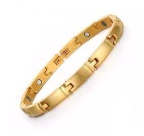 Bracelete Pulseira Magnética Feminina Banhada A Ouro 18k