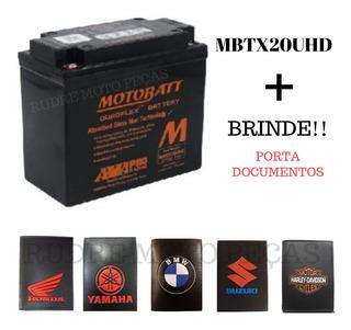 Bateria Motobatt Mbtx20uhd Harley Dyna S Glide Custom Brinde