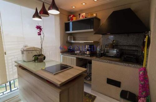 Lindo Apartamento Viva 133m 3 Dorms 2 Suites 2 Salas 4 Banheiros 2 Vagas Sacada Gourmet Cond. Clube. - Mr75030