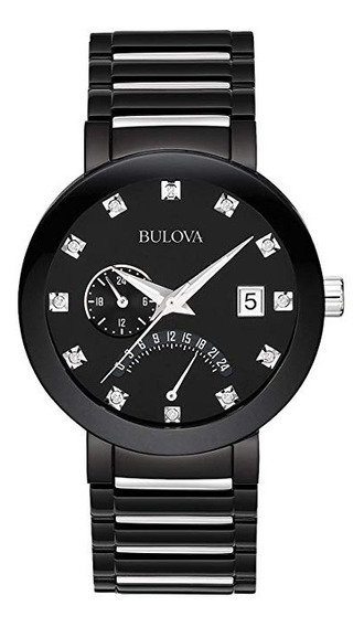 Reloj Caballero Bulova Diamonds 98d109 40mm Nuevo Original