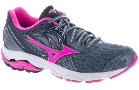 Zapatillas Running Mizuno Mujer -wave Inspire 14 Grisfuscia