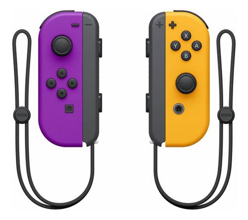 Imagen 1 de 1 de Set de control joystick inalámbrico Nintendo Switch Joy-Con (L)/(R) morado-neón y naranja-neón