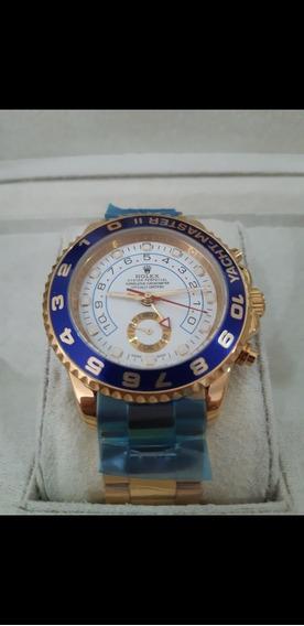 Relógio Rolex Yacht Master Ii Dourado Automático Completo