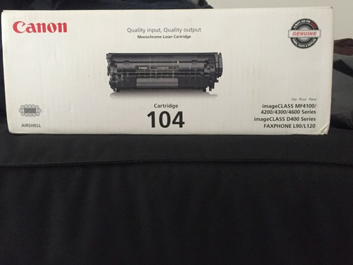 Toner  Canon 104 Fx9 Para Mf-4150 Mf-4350-4370