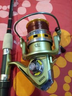 Caña Telescopica 1.80 Y Carrete Quillen 5000 Nuevo