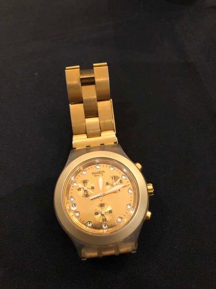 Relógio Swatch Gold Irony Diaphane