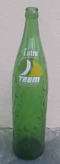 Botella Antigua Teem - Gaseosa De 1 Litro