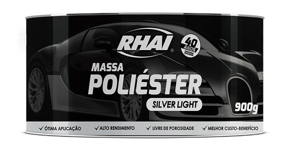 Massa Poliéster Rhai Silver 900 G Acompanha Catalisador