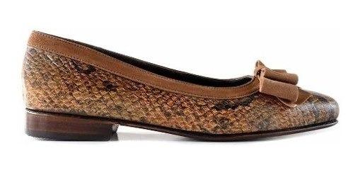 Zapato Chatita Mujer Cuero Briganti Vestir Moda - Mccha2855